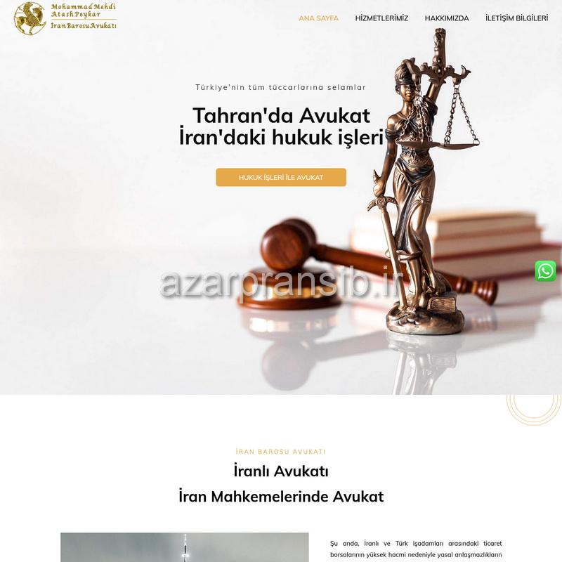 طراحی وب سایت و بهینه سازی وب سایت حقوقی İranlı Avukatı به زبان ترکی استانبولی