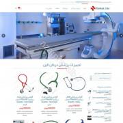 طراحی وب سایت و بهینه سازی وب سایت (سئو SEO وبسایت) تجهیزات پزشکی درمان لاین