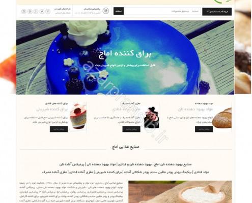 طراحی وب سایت و بهینه سازی وب سایت (سئو SEO وبسایت) صنایع بهبود دهنده نان اماج