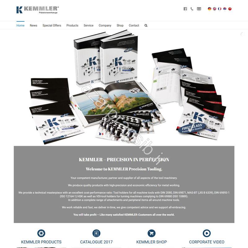 طراحی وب سایت و بهینه سازی وب سایت (سئو SEO وبسایت) نمایندگی ابزار KEMMLER