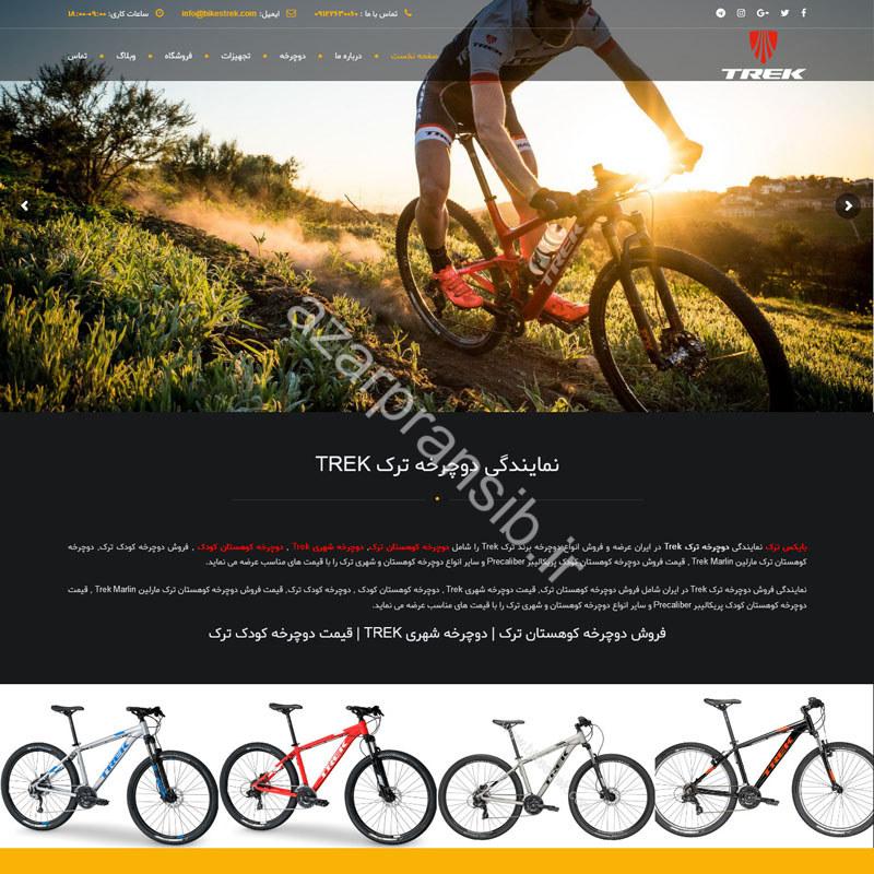 طراحی وب سایت و بهینه سازی وب سایت (سئو SEO وبسایت) نمایندگی دوچرخه ترک Trek