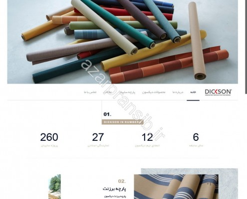 طراحی وب سایت و بهینه سازی وب سایت (سئو SEO وبسایت) پارچه سایبان دیکسون