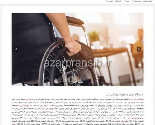 فروشگاه ویلچر و تجهیزات پزشکی تریتا - طراحی وب سایت و بهینه سازی وب سایت