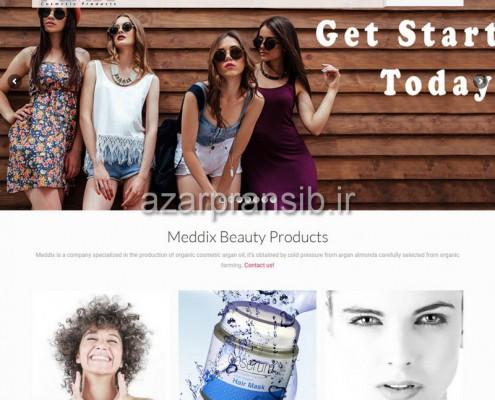 محصولات زیبایی Meddix Beauty Products - طراحی وب سایت و سئو SEO وبسایت