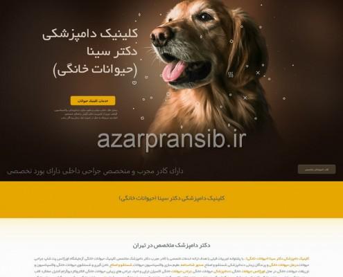 کلینیک دامپزشکی دکتر سینا (حیوانات خانگی) - طراحی وب سایت و بهینه سازی وب سایت